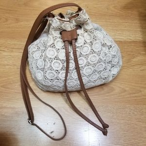 Handbags - Crocheted Hobo Bag